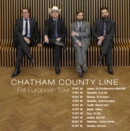 Chatham County Line - 2018 European Tour Poster