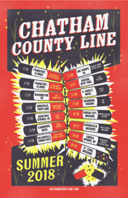 Chatham County Line - Summer 2018 Tour Poster