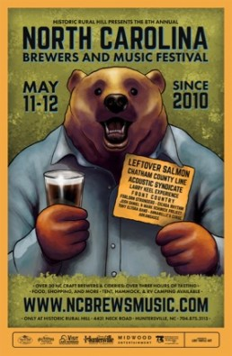 Chatham County Line - Brewers & Music Festival Poster