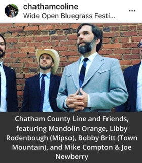 Chatham County Line at Wide Open Music Festival